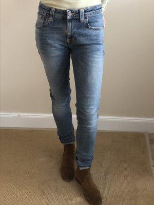 Nudie jeans Vaquero pitillo azul