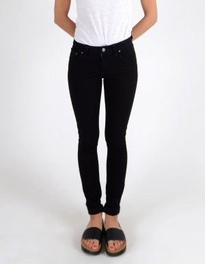 NUDIES Skinny lin Black, Neu ohne etikett. Total black, W29/L30