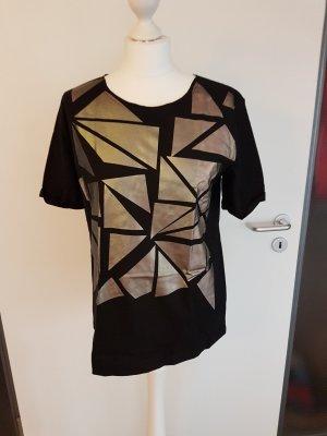 NÜ Denmark T-shirt zwart-goud