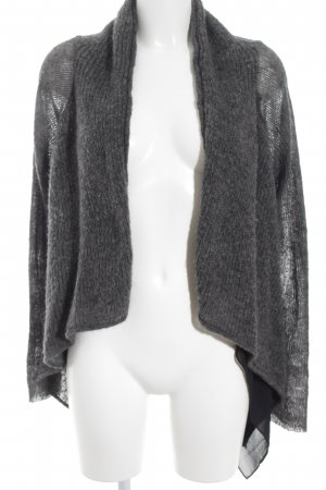 nü by staff-woman Cardigan dunkelgrau-schwarz schlichter Stil