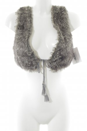 nü by staff-woman Vest van imitatiebont veelkleurig Boho uitstraling
