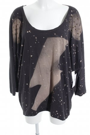 nü by staff-woman Longsleeve anthrazit-altrosa Punktemuster Street-Fashion-Look