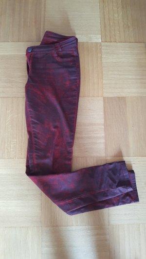 NÜ Denmark Slim jeans donkerrood-zwart Katoen