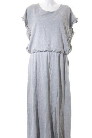 NÜ Denmark Jerseykleid silberfarben meliert Elegant