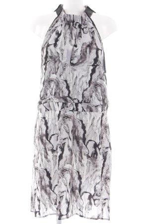 NÜ Denmark Halter Dress light grey-black abstract pattern party style