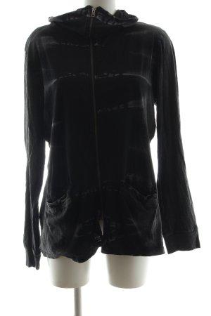 nü Giacca-camicia nero motivo a righe stile casual