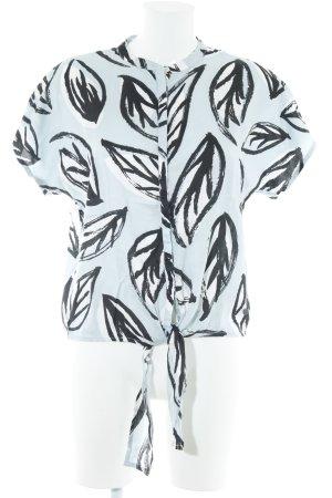 NÜMPF ärmellose Bluse abstraktes Muster 80ies-Stil