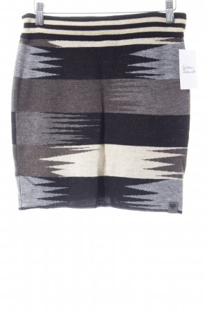 NÜMPF Minirock schwarz-hellbeige Streifenmuster Street-Fashion-Look