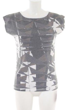NÜMPF T-Shirt weiß-grau Mustermix Casual-Look