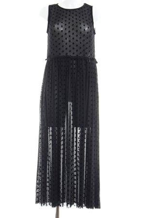 Nümph Abendkleid schwarz Punktemuster Casual-Look