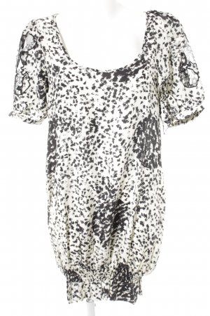 Nümph Balloon Dress white-black spots-of-color pattern casual look
