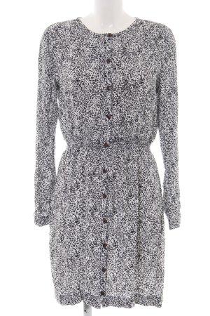 Nümph Blusenkleid weiß-schwarz abstraktes Muster Elegant