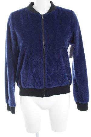 Nümph Bomberjack zwart-blauw straat-mode uitstraling