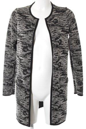 Nümph Cardigan schwarz-weiß Farbtupfermuster Casual-Look