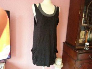 Nümph Doppellagiges Kleid in S schwarz grau