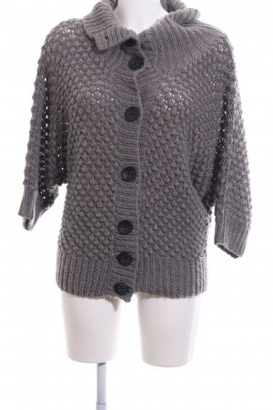 Nümph Coarse Knitted Jacket light grey casual look