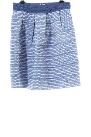 Nümph High Waist Skirt blue-white graphic pattern casual look