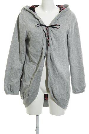 Nümph Hooded Sweatshirt light grey weave pattern casual look