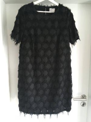 Nümph Robe à franges noir
