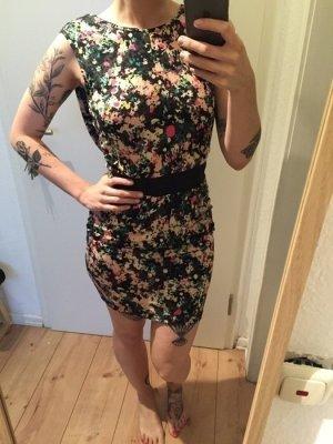 Nümph Kleid mit Farbtupfern tailliert