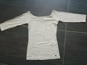 Nümph Camisa tejida blanco puro-gris claro Viscosa