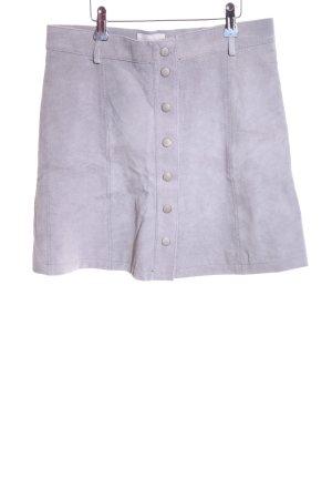 Nümph Leather Skirt light grey casual look