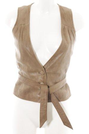 Nümph Leather Vest brown casual look