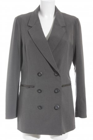 Nümph Long-Blazer grau meliert Business-Look