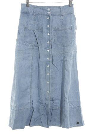 Nümph Maxirock himmelblau Jeans-Optik