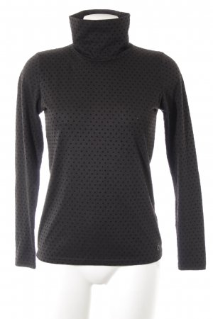 Nümph Turtleneck Sweater grey-black spot pattern casual look