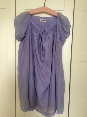 Nümph Babydoll Dress purple silk