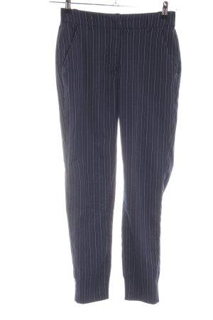 Nümph Stoffhose blau-weiß Streifenmuster Casual-Look
