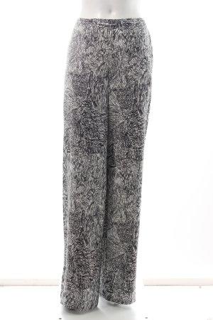 Nümph Stoffhose weiß-schwarz abstraktes Muster Street-Fashion-Look