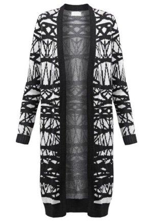 Nümph Gebreide jas zwart-wit Katoen