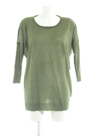 Nümph Strickpullover grün Casual-Look