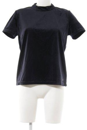 Nümph T-Shirt dunkelblau Samt-Optik