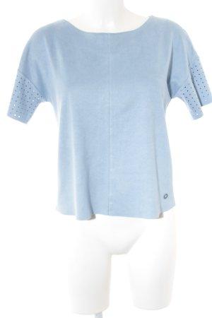Nümph T-Shirt himmelblau Logo-Applikation