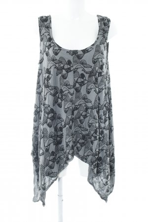 Nümph Tanktop schwarz-grau abstraktes Muster Casual-Look