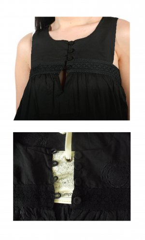 Nümph Top NEU ausverkauft Baby-Doll S 36 Herla Bluse Stickerei Stoffknöpfe
