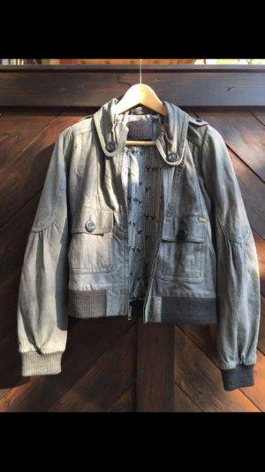 Nümph Leather Jacket grey-anthracite