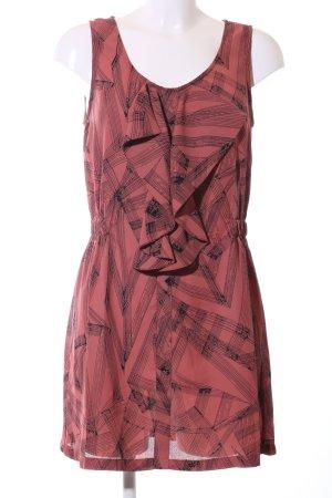 Nümph Vestido estilo flounce rojo-negro elegante