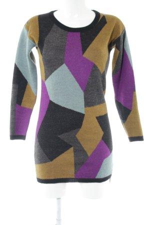 Nümph Vestido de lana estampado repetido sobre toda la superficie look casual