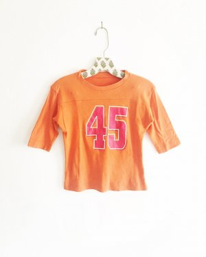 nummern shirt / vintage / 45 / numbers / orange / pink