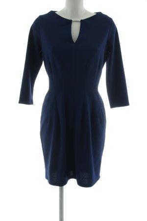 Numoco Abendkleid blau Business-Look