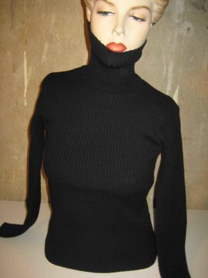 nun im Winter-Sale !!! Rollkragenpullover schwarz, minimal / clean Chic