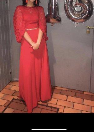100% Fashion Robe de soirée rouge
