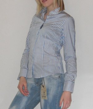 nur 1x getragen Tommy Hilfiger Bluse Gr. 34-36, S, Streifen, blau weiss Business