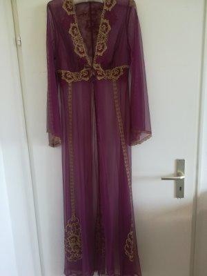 Nur 2x getragen: Negligee/Morgenmantel aus Dubai mit Bordüren, Gr. M