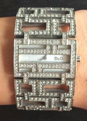 nur bis 22.10: Dolce&Gabbana D&G Armbanduhr (Silber mit Swarovski-Steinchen)