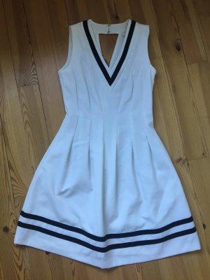 nur bis 22.10: nie getragenes weiß-blaues Marine Kleid von h&m in Gr. 34